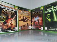 Lot 4 Original XBOX Star Wars Obi Wan, Episode 3, Clone Wars, Old Republic