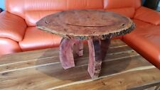 Coffee table red gum live edge