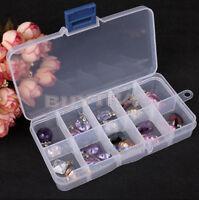 10 Slots Adjustable Jewelry Storage Box Case Container Craft Organizer Beads EW