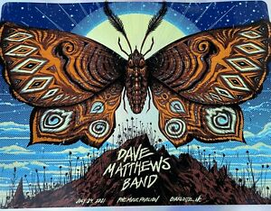 *FOIL* Dave Matthews Band Charlotte NC Poster 7/24/21 Butterfly Jeff Soto LE 100