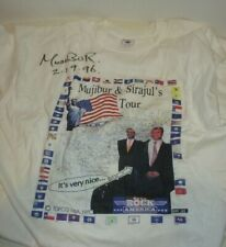 MUJIBUR & SIRAJUL'S USA TOUR SIGNED BY MUJIBUR FROM DAVID LETTERMAN SHOW XL 1996
