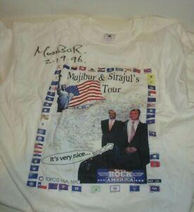 MUJIBUR & SIRAJUL'S USA TOUR SIGNED BY MUJIBUR FROM DAVID LETTERMAN SHOW XL 1996
