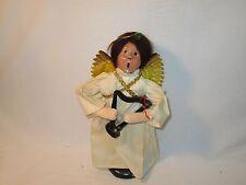 Byers Choice Retired 1987 Brunette Nativity Angel with Mini Harp