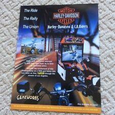 SEGA GAMEWORKS HARLEY DAVIDSON MOTOR CYCLE  ARCADE VIDEO GAME BROCHURE FLYER