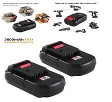 Battery for Porter Cable PC18B PCC489N PCMVC PCXMVC 18V 3.6Ah, 2Pack