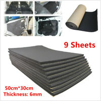 9 Sheets 6mm Car Sound Proofing Deadener Heat Noise Insulation Closed Cell Foam