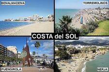 SOUVENIR FRIDGE MAGNET of THE COSTA DEL SOL TORREMOLINOS FUENGIROLA NERJA