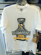 2016 Stanley Cup Champions Hockey Pittsburgh Penguins Locker T Shirt X-Large '47