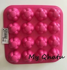 Pink Flower shape Ice Cube Tray Candy Jello Mold IKEA Silicone Ice Cubes