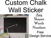Personalised Wall Sticker Custom Chalk Chalkboard Blackboard Self Adhesive Vinyl