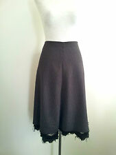 Arthur Galan size M grey wool pin-striped A-line skirt, made in Australia