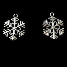 Sterling Silver Snowflake Charm 15x14mm Christmas Charm Findings