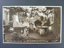 Stoke Poges Church Yew Tree United Kingdom Uk Real Photo Postcard Rppc