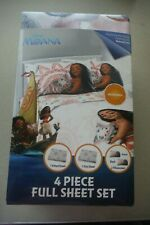 Disney Moana 4-Piece Full Sheet Set, NEW!