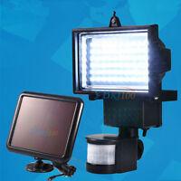 60 LED Solarleuchte Solarlampe Wandleuchte Flutlicht Mit PIR Bewegungsmelder NEU