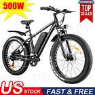 """VIVI 26"""" Electric Bike,500W 48V Snow Bike Fat Tire,12.5AH Removable Li-Battery"""
