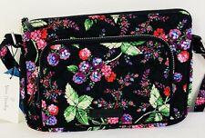 Vera Bradley Iconic RFID Little Hipster Winter  Berry Wallet Zip Top Cross Body