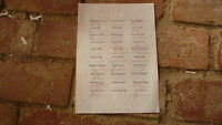 A4 SIZE TEAM SHEET HAND SIGNED BY THE 2009 ST KILDA FC TEAM, REIWOLDT etc