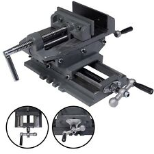 "New 5"" Cross Drill Press Vise X-Y Clamp Machine Slide Metal Milling 2 Way HD"