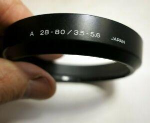 Minolta A 28-80mm 3.5-5.6 Lens Hood Shade AF maxxum auto focus Genuine Original