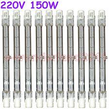10 HALOGEN LIGHT BULB 220-240V 150W 150 WATT J TYPE T3 118mm (R7s) Halogen Bulbs