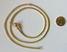 Collar dorado estilo pulsera europea 55 cm x 3 mm cadena abalorios bisutería