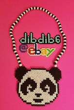 Panda perler kandi necklace, Deorro, rave, EDC, PLUR
