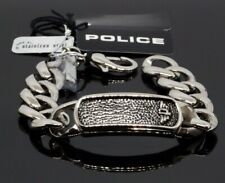 Chain Bracelet - 7 7/8in Police Pj25696Bss-01-S Anvil Stainless Steel Curb