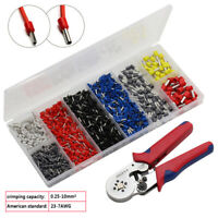 0.25-10mm2 Crimper Plier Tool With 1200pcs Cable Wire Terminal Connector Kit Set