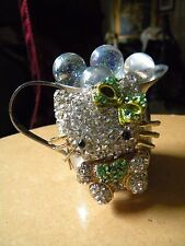 Kitty cat Art Bling galore Silver pitcher Cat lovers look!