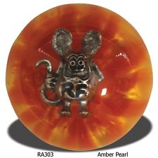 Rat Fink Amber Pearl Shift Knob Hot Rod Kustom Rat Rod Mooneyes Vintage Ed Roth