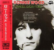 RONNIE WOOD Cancel Everything RARE UK JAPAN CD OBI TB-2034 The Rolling Stones