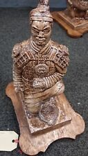 large Chinese terracotta warrior on wood base replica