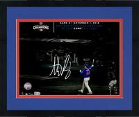 """Frmd Anthony Rizzo Chicago Cubs 2016 Champs Signed 11"""" x 14"""" WS Spotlight Photo"""