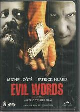 evil words Sur Le Seuil DVD Michel Cote Pateick Huard Very good
