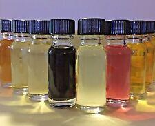 Lot Of 10 Designer Perfume Oils For Women, 1/2 oz Glass Splash Bottles