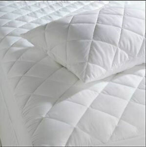 Extra deep Quilted mattress protector cover Extra Deep Fabric Skirt all sizes