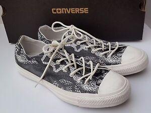 New Shoes Sneaker Converse All Star Men Women Snake Reptile Black White 9 7 40