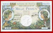 (Ref: B.123) 1000 FRANCS ( COMMERCE ET INDUSTRIE ) 19/12/1940 (SPL+)