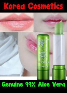 GENUINE 99% Aloe Vera Soothing Gel Lip Moisturizer Color Changing Lip Balm