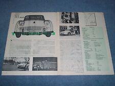 1958 Triumph TR3 Vintage Sports Car Road Test Info Article
