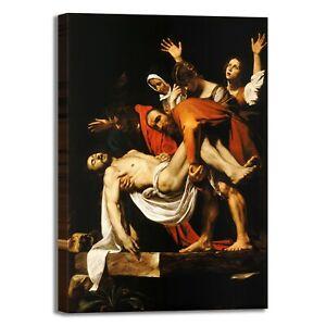 Caravaggio deposizione di Cristo quadro stampa tela dipinto telaio arredo casa