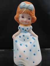 Vintage Jasco Adorabelles Bisque Porcelain Girl Curtsying Bell Collectible Nos