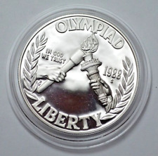 1988 Olympiad Liberty Bu Commemorative $1 - 90% Silver Dollar Coin Us Mint
