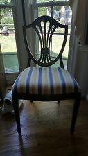 Set of 8 Mahogany Vintage Antique Shield Back Hepplewhite Dining Chairs