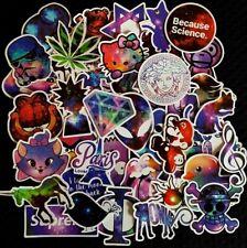 Purple Galaxy Funky Crystal Space Animal Stickers Bulk Vinyl Skate Laptop Decal