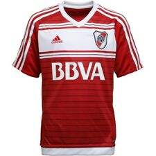 Adidas Size M Boys CARP River Plate Away Shirt NEW UK Seller Red White Age 12