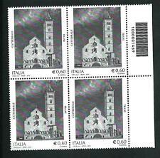 Italia Repubblica 2012 - Cattedrale Trani - quartina con codice a barre