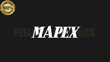 "Mapex Drums text logo 8"" X 2"" White logo sticker decal for bass drumhead drum"