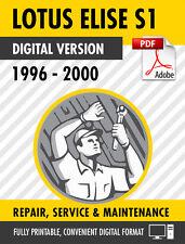 1996-2000 LOTUS ELISE S1 FACTORY SERVICE REPAIR MANUAL / WORKSHPO MANUAL OEM